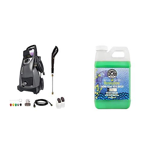Sun Joe SPX3000-BLK Pressure Joe 2030 PSI 1.76 GPM 14.5-Amp Electric Pressure Washer, Black & Chemical Guys CWS_110_64 Honeydew Snow Foam Car Wash (64 Oz)