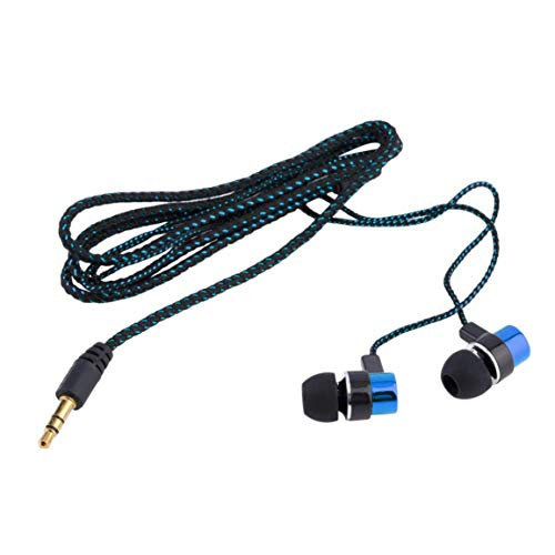 ロングコードヘッドホン編組配線、延長ケーブルイヤホンPC用イヤフォン、インイヤーワイヤードベースヘッドセット