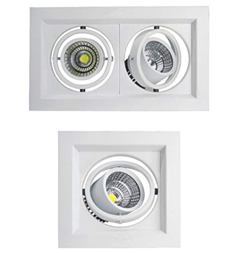 Luz empotrable LED regulable COB Foco de techo 10w 20W 30W Luces empotradas en el techo Iluminación interior-Warm_white_10W