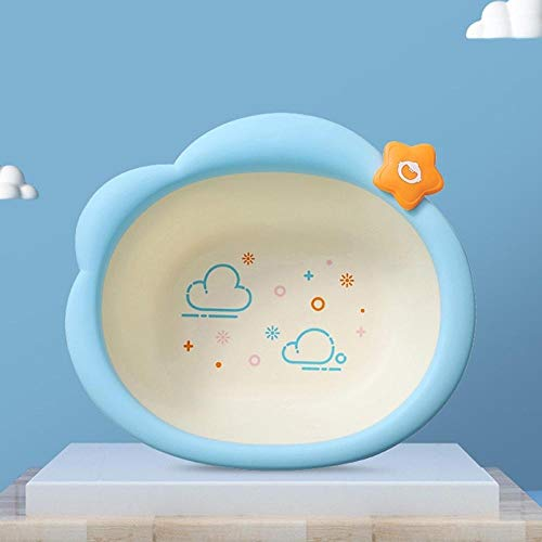 Alberta Kinder Waschbecken aus Kunststoff Badewannen leichte, tragbare Waschbecken Home Küche Bowl Outdoor-Camping-Baby-Kind-Waschbecken-Rosa (Color : Blue)