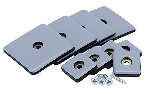 Teflongleiter zum schrauben 25 & 50 mm 4-16 Stk Möbelgleiter Teflon PTFE Gleiter 50 x 50 mm 16 Stück