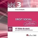 Droit social DCG 3 - 41 fiches de cours pour acquérir les connaissances nécessaires