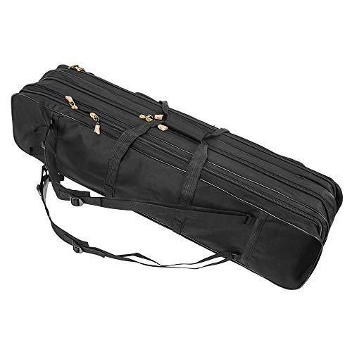 LIXADA ロッドケース フィッシングバッグ 釣りロッド 手提げ 肩掛け ポータブル 大容量 3層 釣り竿入れ 竿袋 80cm ブラック