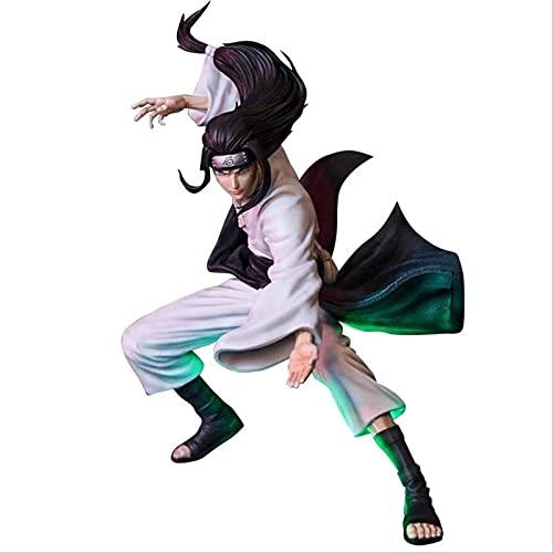 QWYU 12 pulgadas acción Byakugan Hyuuga Neji Gk estatua Anime Naruto coleccionable regalo de dos cabezas Neji Ninja Doll Toy
