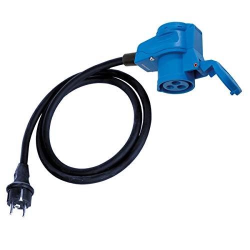 CEE Adapter Kabel Winkel-Kupplung auf Schutzkontakt Stecker 1,5 Meter IP44 spritzwassergeschützt 230V / 16A 3-polig für Camping, Boot, Camper, Wohnwagen, Wohnmobil