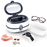 Uten Ultrasonic Cleaner 600ml Ultra Sonic Jewellery Cleaner with Cleaning Dentures Jewelry Glasses Watch Metal Coins Dentures