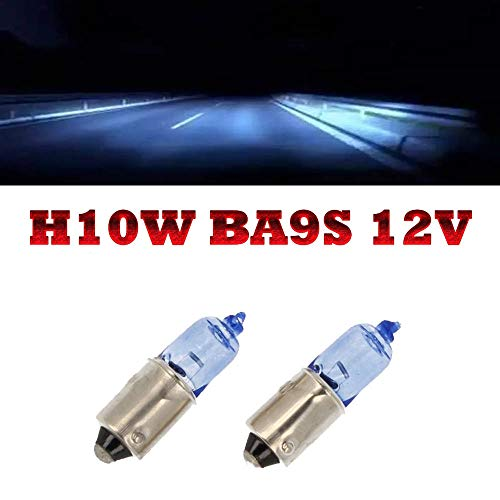 Preisvergleich Produktbild Jurmann Trade GmbH® 2x Blue Vision H10W BA9S 12V Super White Xenon Look Halogen Lampen