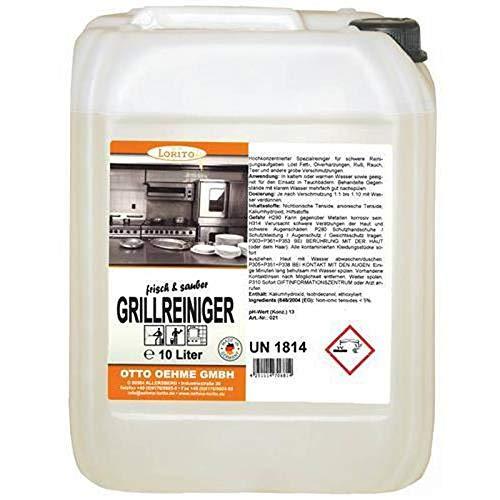 LORITO frisch & sauber Grillreiniger, Backofenreiniger, stark alkalisch, 10 Liter