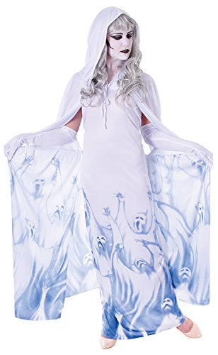 Bristol Novelty Ac369 Ghost Soul Seeker Femelle Costume, Taille 10–42