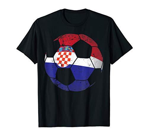 Croatia Soccer Ball Flag Jersey Shirt - Croatian Football