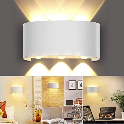 OUSFOT Aplique de pared interior de 6W LED moderno de aluminio e impermeable, decoración para dormitorio, salón, pasillo, escalera y cocina