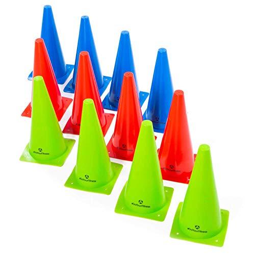#DoYourFitness® Markierkegel/Pylonen - Größe der Kegel 15cm, 23cm o. 30cm - Stückzahl 1/3 / 6 - Markierungshüttchen für Koordinations- / Agilitytraining : 6X Large (rot)