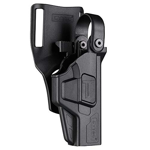 CYTAC CY-G17L3 Polymer Duty Holster Level III Protection - Glock 17