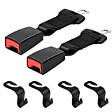 Xflyee Original Car Buckles Extender - (7/8'' Metal Tongue) Not Universal Auto Buckle Extender Socket & Car Headrest Hanger Storage Hooks for Purse Groceries Shipping Bags - 6 Pack