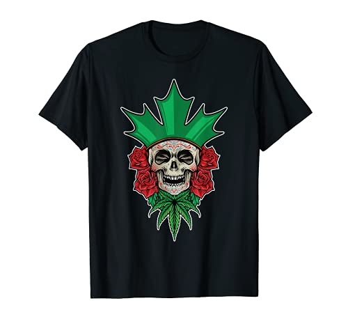 Crneo de azcar floral Dia De Los Muertos Da Mexicano de los Muertos Camiseta