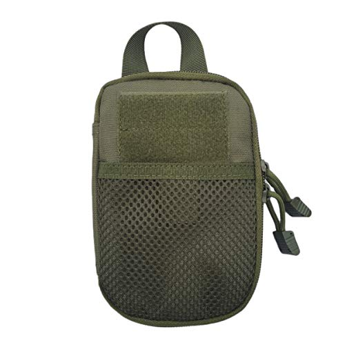 LZVTO Tactical Molle Pouches Wallet Phone Pocket EDC Accessory Bag with Belt Clip (Army Green)