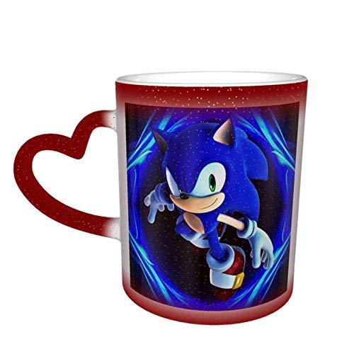 Taza de café, diseño de la noche de la belleza y la bestia que cambia de color, tazas de té para mujeres, hombres, niños y niñas, rojo