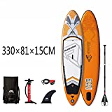 CDPC Tabla de Surf Inflable Sup Stand Up Paddle Board Control de Pedal Sup Board Bag Leash Paddle 330 X 81 X 15Cm