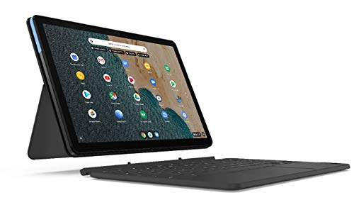 Lenovo IdeaPad Duet Chromebook Tablet, Display 10.1' Full HD, Processore MediaTek P60T, Storage 64GB, RAM 4GB, Wi-Fi, ChromeOS, Lenovo Keyboard, Ice B