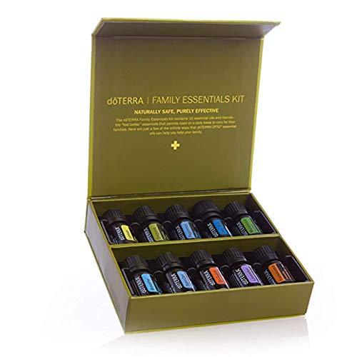 dōTERRA Family Essentials Kit, Aromatherapy Essential Oil Set Plus 12 Months dōTERRA Membership, Including EaglesWings Roller Ball Bottle.