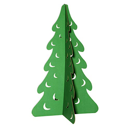 Anderson's Small Green Fir Tree Cardboard Decorating Kit, Christmas Decoration