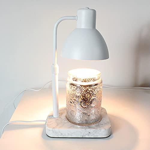 LONG-L Altura Ajustable Quemador De Cera,Lámparas Ambientadoras De Regulable,Accesorios para Fragancias,Difusores De Aceite Perfumado,White