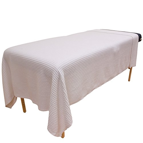 New Body Linen Waffle Weave Blanket - White