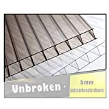 YJSMB Paneles de Policarbonato, 6 Piezas Plato De Plástico Protección UV...