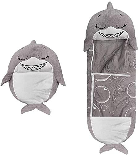 Kids SpielenKissen, Bchlafsack, Spaß Schlafsack Faltbare Weiche Kinder Tier Schlafsack, Bestes GeschenkParent-Kind XL (Größe: 165 * 60) DarkGrey