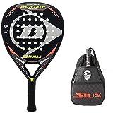 Pala de Padel Dunlop Samurai Soft + Bandolera Siux / Mejores Palas polivalente para Hombre Mujer Niño y Junior / Alto Control y Potencia en Cada golpeo de Pelotas