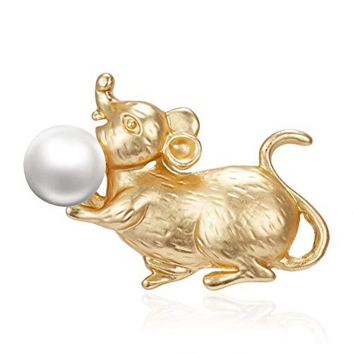 BLINGBRY Emaille sterrenbeeld ratten jaar dieren broche houden ijs papier vliegtuig parel stomend goud strass schilderij olie kleine broche
