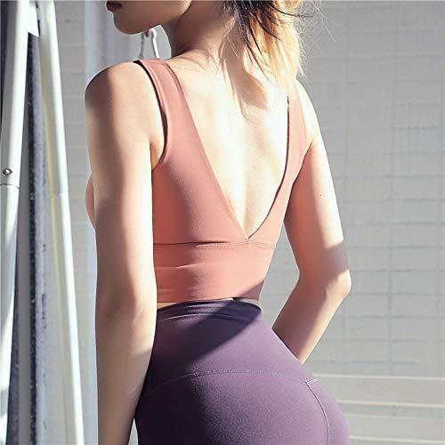 CQOQ Pantalones de Yoga Running Sports Sujetador para Mujeres Yoga Bra Gimnasio Top para Fitness Deportes Desgaste para Mujeres Gimnasio Fitness Top Sports Ropa de Yoga para Mujer