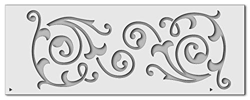 Wandschablone Bordüre 5 (40 x 15 cm)