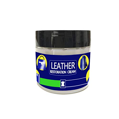 Tuscom Leather Restoration Cream Leather Vinyl Repair Kit Leather Repair Fluid Auto Car Seat Sofa Coats Holes Scratch Cracks Rips Liquid for Furniture, Couch, Handbag, Jacket Restorer (1pc)