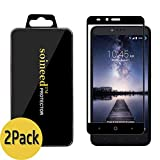 [2-Pack] SOINEED for ZTE Zmax Pro Z981 and ZTE Blade X Max Z983 Full Coverage Tempered Glass Screen Protector [9H Hardness] [Bubble Free] [Ultra-Clear] [Scratch Proof]