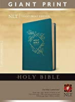 Holy Bible: Nlt Giant Print Red Letter, Leatherlike, Teal Blue