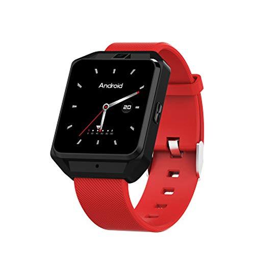 BTPDIAN Deportes, frecuencia cardíaca, posicionamiento GPS SOS, Ayuda, Tarjeta Antigua, Tarjeta de teléfono, Reloj 4G, Estudiante de Secundaria, Reloj Inteligente (Color : Red)