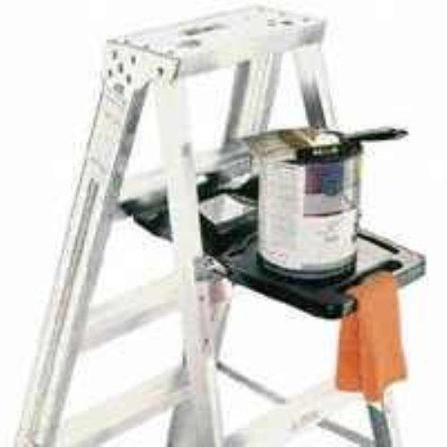 Werner PK76-3 Estante de cubo de cierre automático, para uso con escaleras...