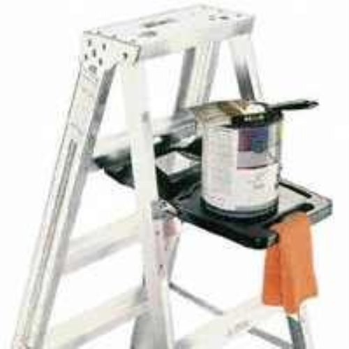 Werner PK76-3 Auto Closing Pail Shelf, for Use with 400 Series Aluminum and Fiberglass Step Ladders