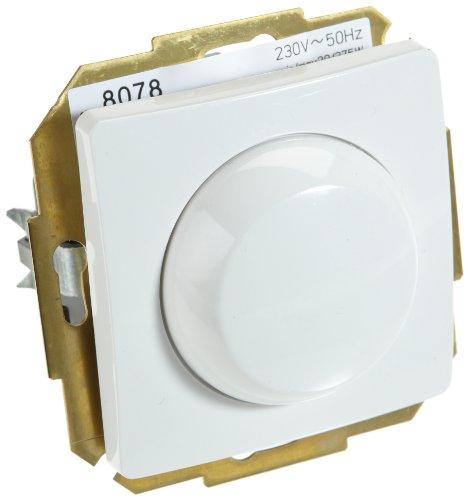 Kopp 803502080 Elektronischer Dimmer Paris (Phasenabschnitt), arktis-weiß