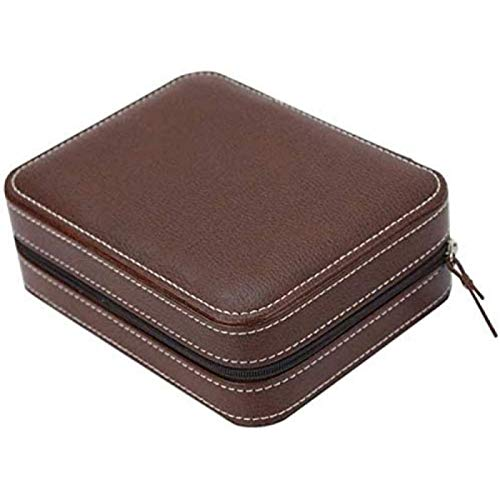 ZHANG Bolsa De Almacenamiento De Cajones Joyero Negro Caja De Almacenamiento De Relojes Caja De Almacenamiento De Cuero Hombres Y Mujeres