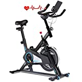 ANCHEER Indoor Cycling Spin Bike, Silent Belt Drive Spinning Exercise Bike with Adjustable
