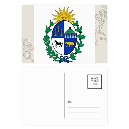 DIYthinker Uruguay Südamerika National Emblem Blumen Postkartenset dankt Karte Mailing Side 20pcs 5.7 Zoll x 3.8 Zoll Mehrfarbig