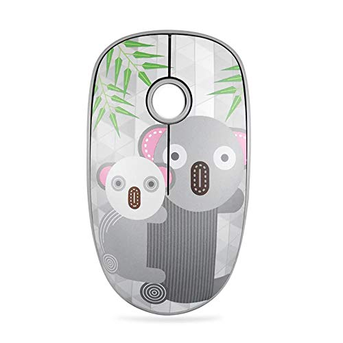 FD V8 Wireless Mouse Battery Included, 2.4G Cute Colorful Animal Slim Silent Travel Cordless Mouse Optical Designed Mice with Nano Receiver Compatible for Laptop Computer PC Chromebook (Gray Koala)