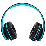HY-811 Foldable FM Stereo MP3 Player Wired Bluetooth Headset Black & Blue 153