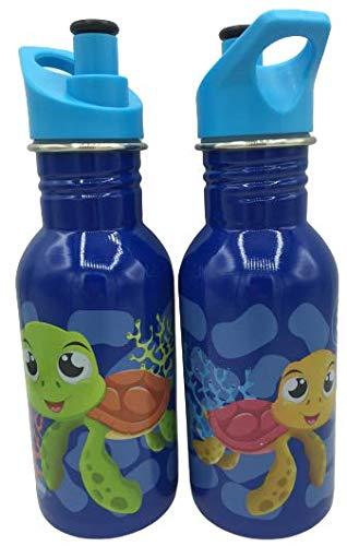 WR Bouteille d'eau en acier inoxydable avec isolation sous vide Bouteille de boisson double paroi 500 ml (bleu)