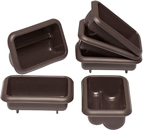 Lurch 85077 FlexiForm Mini Stollen 6er Set / Backförmchen für 6 kleine Stollen ( 9.1 x 5.6 x 3.9 cm) aus 100% BPA-freiem Platin Silikon