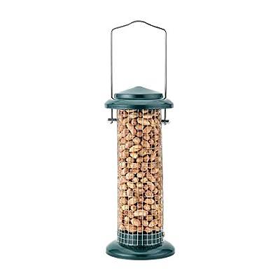 iBorn Bird Feeder Sunflower Feeder Peanut Nut Feeder for Wild Birds Garden Outdoors, Green 8 Inch Tall from iBorn