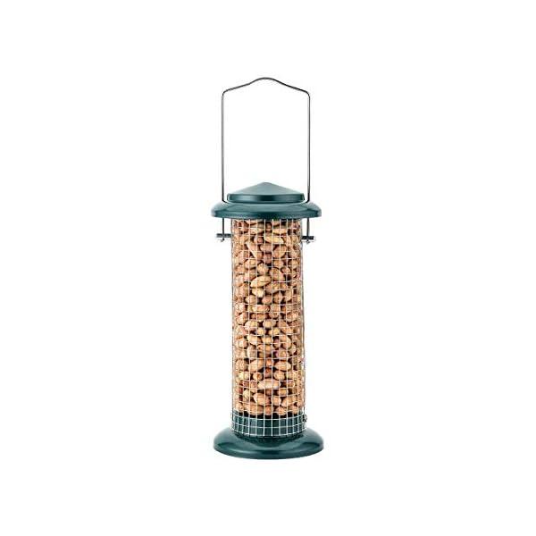 iBorn Bird Feeder Sunflower Feeder Peanut Nut Feeder for Wild Birds Garden Outdoors, Green 8 Inch Tall