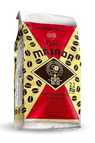 Majada Oro El Salvador Coffee - Ground, Specialty Arabica Blend, Salvadorian Premium Export Quality, Single Origin, Fresh Roasted, Café Majada Oro, 2.2 lbs